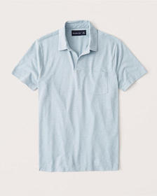 Johnny Collar Jersey Polo, LIGHT BLUE