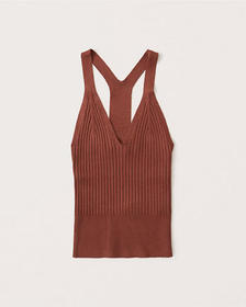 T-Back Sweater Tank, PAPRIKA RED