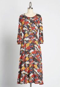 Perennial Praise Midi Dress Multi Floral