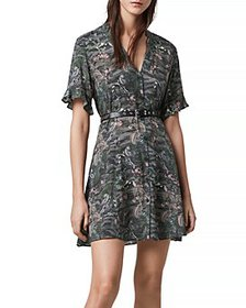 ALLSAINTS - Fay Paradeep Tropical Print Mini Dress