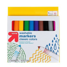 Markers Broad Tip Washable Classic Colors 10ct - U