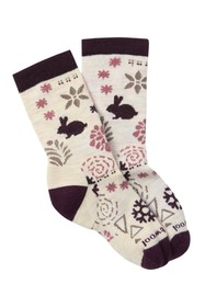 SmartWool Bunny Slope Moonbeam Crew Socks