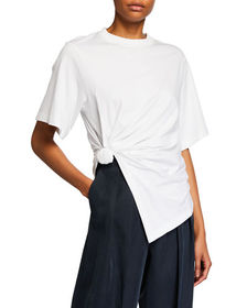 See by Chloe Knotted Cotton Crewneck Tee