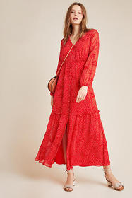 Anthropologie Miranda Textured Maxi Dress