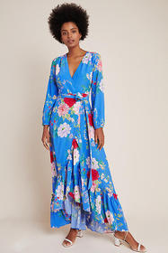 Anthropologie Yumi Kim Azure Wrap Maxi Dress