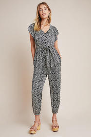 Anthropologie Zadie Satin Jumpsuit