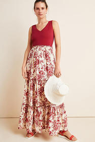 Anthropologie Trudie Tiered Maxi Dress