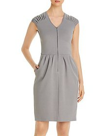 Armani - Cap-Sleeve Zip Dress