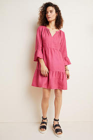 Anthropologie Aurora Linen Tiered Tunic