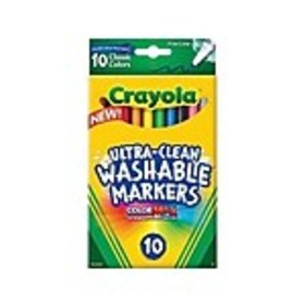 Crayola Ultra-Clean Washable Markers, Fine Line, A