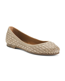 FRYE Woven Leather Ballet Flats