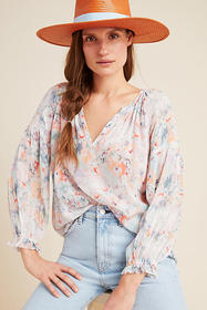 Anthropologie Jessa Peasant Blouse