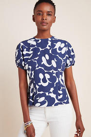 Anthropologie Angie Poplin Blouse