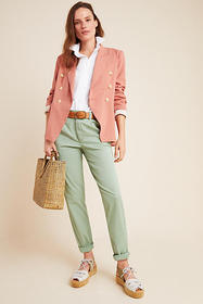 Anthropologie Scout Slim Pleated Pants