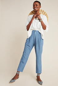 Anthropologie Victoria Textured Slim Pants