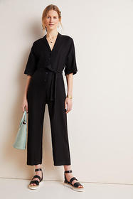 Anthropologie Tamra Linen Jumpsuit