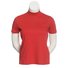 Plus Size Hasting & Smith Short Sleeve Mock Neck T
