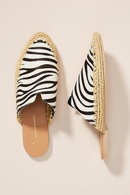 Anthropologie Kirke Raffia Slides