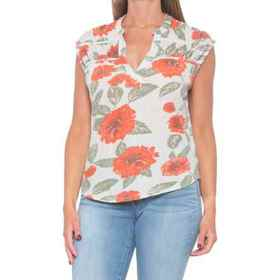 Lucky Brand Printed Shirt - V-Neck, Sleeveless (Fo