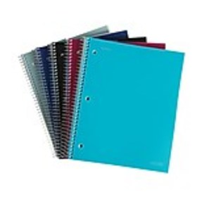 Staples Accel 3-Subject Notebook, 8.5 x 11, Colleg