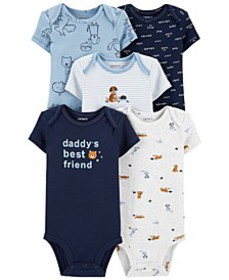 Baby Boys 5-Pk. Cotton Daddy's Best Friend Bodysui