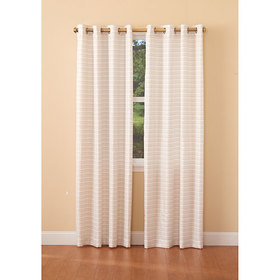 Essex Metallic Stripe Grommet Curtain Panel