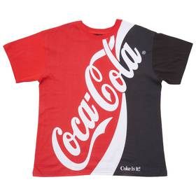 Young Mens Split Short Sleeve Coke Graphic Tee