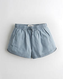 Hollister Ultra High-Rise Curved Hem Short, LIGHT
