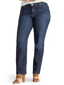Lee Womens's Plus Stretch Relaxed Fit Straight Leg