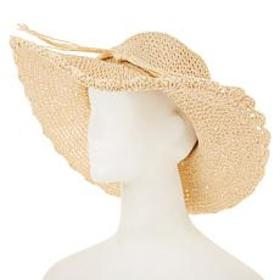 """""""As Is"""" Curations Scalloped Floppy Hat"""
