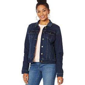 """As Is"" Skinnygirl Classic Jean Jacket - Basic"