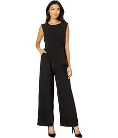 Tahari by ASL Stretch Crepe Side Tie Jumpsuit