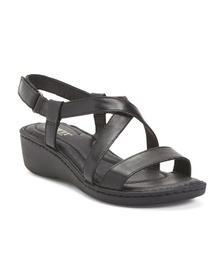BORN Comfort Strappy Leather Sandals
