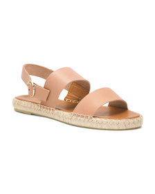 Made In Spain 2 Band Flat Leather Sandals