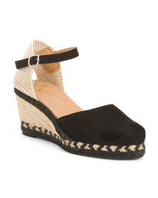 Made In Spain Suede Wedge Sandals