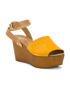 Made In Italy Ankle Strap Wood Suede He