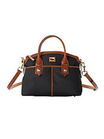 Dooney & Bourke Contrast Trim Domed Satchel BLACK
