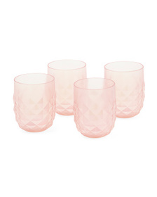 C&C CALIFORNIA Set Of 4 Outdoor Diamond Stemless G
