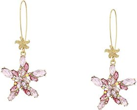 Betsey Johnson Starfish Shepherd Hook Earrings