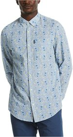 Original Penguin Linen Blend Tonal Palm Print Long