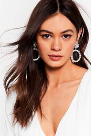 Nasty Gal Silver Another Round Pearl Drop Earrings
