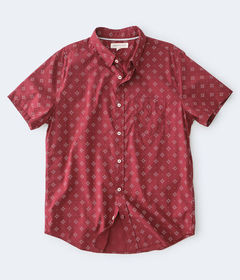 Aeropostale Geometric Diamond-Print Button-Down Sh