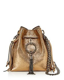 Jimmy Choo - Callie Metallic Drawstring Crossbody