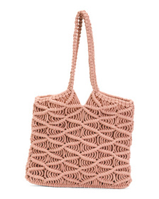 C&C CALIFORNIA Macrame Tote With Shoulder Carry Ha