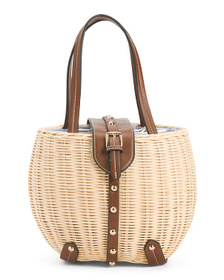 C & C CALIFORNIA Natural Studded Rattan Picnic Bas