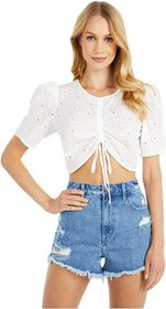 BCBGeneration Ruched Front Puff Top - TTB1234313