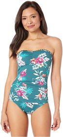 Tommy Bahama Floral Springs Shirred Bandeau One-Pi
