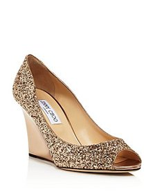 Jimmy Choo - Women's Baxen Peep-Toe Wedge Heel Pum