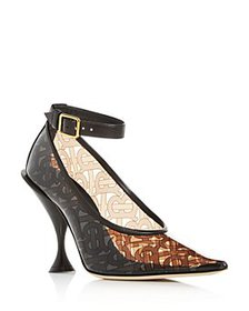 Burberry - Women's Monogram Ankle-Strap Pointed-To