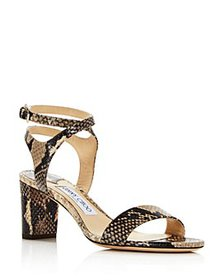 Jimmy Choo - Women's Marine 65 Snake-Embossed High